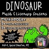 Math and Literacy Centers for Pre-K, Preschool and Kindergarten, Dinosaur Theme