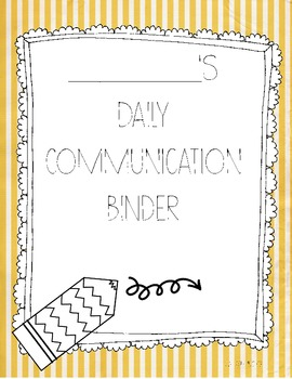 Daily Communication Binder Cover