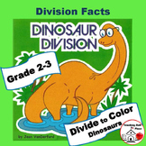 DIVISION PROBLEMS | COLOR  DINOSAURS | Early Finishers | MATH Facts | Gr 3 CORE