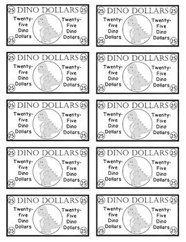 Dinosaur Dollars - Rewards/Classroom Money/Incentives