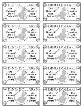 Dinosaur Dollars - Classroom Money Rewards System/Incentives