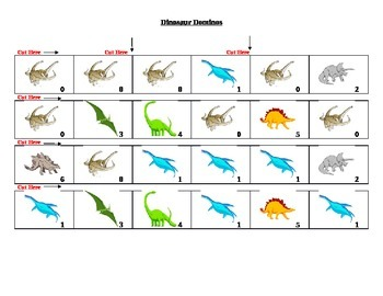 Dinosaur Dominos Game