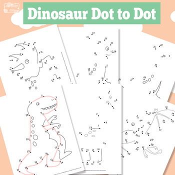 Dinosaur Dot to Dot Worksheets