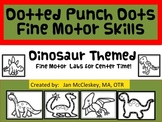 Fine Motor Dinosaur Dotted Punch Dot Skills Labs for Center Time
