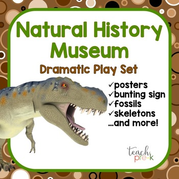 Dinosaur Duo!  5-Day Lesson Plans & Natural History Museum Dramatic Play Set