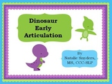 Dinosaur Early Articulation (K/G/F/P/B/M) Activities for Speech Language Therapy