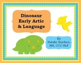 Dinosaur Early Articulation and Language Activities for Speech Language Therapy
