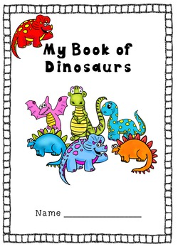 Dinosaur Early Skills Book - COLOUR/BLACK AND WHITE
