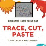 Dinosaur Arts and Craft Hand-prints for tons of Holidays! Halloween, Christmas!