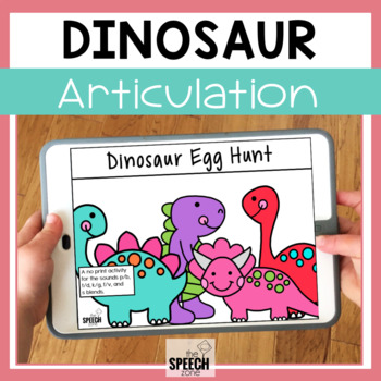 Dinosaur Egg Hunt No Print Articulation Activity