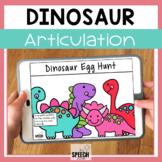 Dinosaur Egg Hunt No Print Articulation Activity