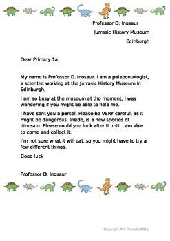Dinosaur Egg Letter