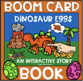 Dinosaur Eggs BOOM Book (Boom Card Activity)  Distance Learning