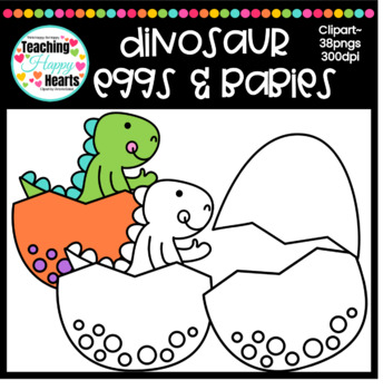 Dinosaur Eggs & Babies Clipart