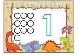 Dinosaur Eggs Counting  Playdough Mat