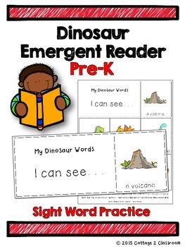 Dinosaur Emergent Reader for PreKinders