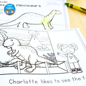 Dinosaur Emergent Readers - Personalized Name Books