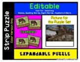 Dinosaur - Expandable & Editable Strip Puzzle w/ Multiple