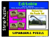 Dinosaur - Expandable & Editable Strip Puzzle with Multipl