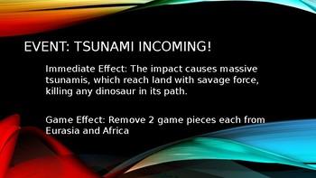 Dinosaur Extinction Simulation Board Game