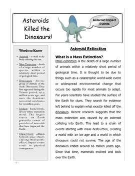 Dinosaur Extinction Using Asteroid and Volcano Theories