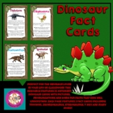 Dinosaur Fact Cards for Kids