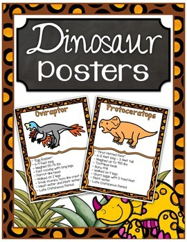 Dinosaur Fact Posters