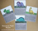 Dinosaur Fact Sheets