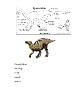 Dinosaur Fact Sheets Booklet