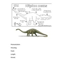 Dinosaur Fact Sheets Booklet
