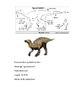 Dinosaur Fact Sheets Booklet WITH ANSWER KEY