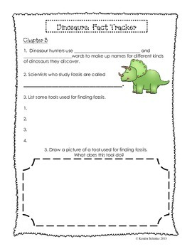 Dinosaur Fact Tracker : Chapter by Chapter Packet
