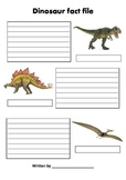 Dinosaur Fact file
