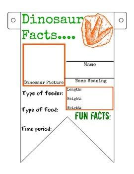 Dinosaur Facts Banner