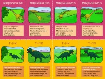 Dinosaur Facts - Card Game
