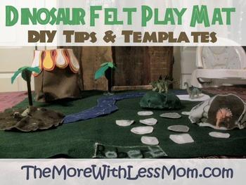 Dinosaur Felt Play Mat – DIY Tips and Printable Templates