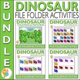 Dinosaur File Folder Activities for Early Childhood Education Bundle
