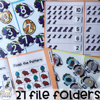 Dinosaur File Folders for Special Education