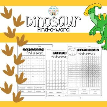 Dinosaur Find-a-Words