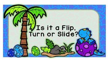 Dinosaur Flips, Turns and Roatations PowerPoint