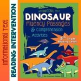 Dinosaur Fluency Close Reading Passages & Comprehension {Grade 5}