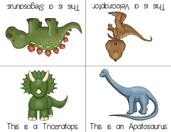 Dinosaur Foldable Early Emergent Reader  ***FREEBIE***