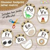 Dinosaur Footprint First Letter Alphabet Match