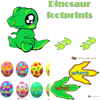 Phonics, Sight Words, Alphabet, Numbers and Irregular Verbs with Dinosaur
