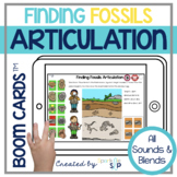 Dinosaur Fossils Articulation Boom Cards™️ for Speech Therapy