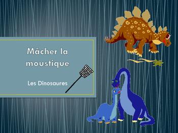Dinosaur French Vocabulary Macher le Moustique (Game)