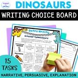 Dinosaur Theme Writing Choice Board: Recount, Persuasive, Narrative, Genres