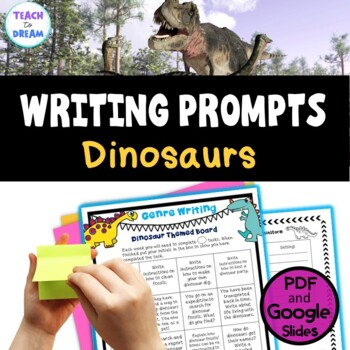 Dinosaur Theme Writing Choice Board: Recount, Persuasive, Narrative, Genres