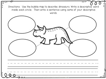 Dinosaur Graphic Organizers and Writing Pages
