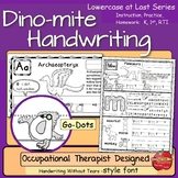 Dinosaur Handwriting: Instruction or Practice ~Lowercase a